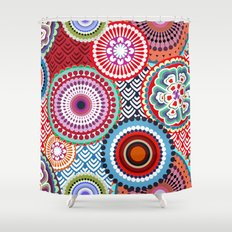 ECLECTIC FLOWERS Shower Curtain