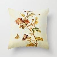 Chrysantheme Throw Pillow
