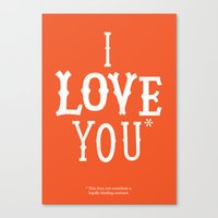 I Love You* Canvas Print