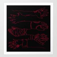 Classic Horror Hands (Re… Art Print