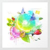Acid Lima Art Print