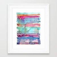 Water Stripes Framed Art Print