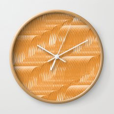 Orange waves background Wall Clock