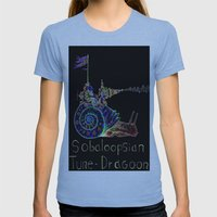 Sobaloopsian Tune-Dragoo… Womens Fitted Tee Athletic Blue SMALL
