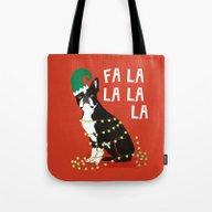 Boston Terrier Elf Chris… Tote Bag