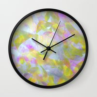 Abstract in Shimmery Pastel Colors Wall Clock