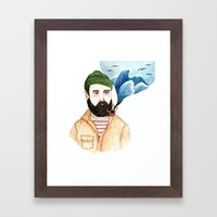 The Sailor and the Sea Framed Art Print