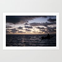Kayak on the Water Art Print