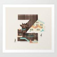 Resort type - Letter Z Art Print