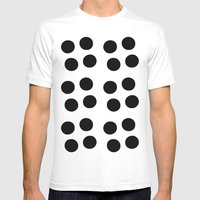 Copijn Black & White Dot… Mens Fitted Tee White SMALL