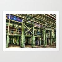 Abandoned Refinery Art Print