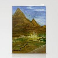 Fictional Landscape III Stationery Cards