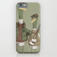 iPhone Cases featuring Hunting Ducks by David Fleck