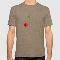 HALF (cherry) LIFE Mens Fitted Tee Tri-Coffee SMALL