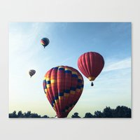 Tree Top Flying - Hot Air Balloons  Canvas Print