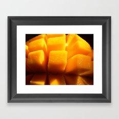 Summer mango Framed Art Print