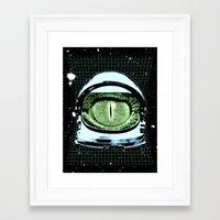 Astro Reptoid Framed Art Print