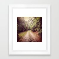 Cemetery Way Framed Art Print