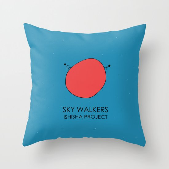SKY WALKERS by ISHISHA PROJECT Throw Pillow