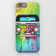 Hippie Bus Van Dripping Rainbow Paint Slim Case iPhone 6s