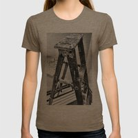 Painter's Ladder Womens Fitted Tee Tri-Coffee SMALL