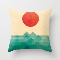 The Ocean, The Sea, The … Throw Pillow