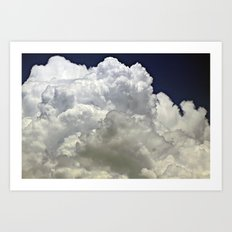 navy cloud Art Print