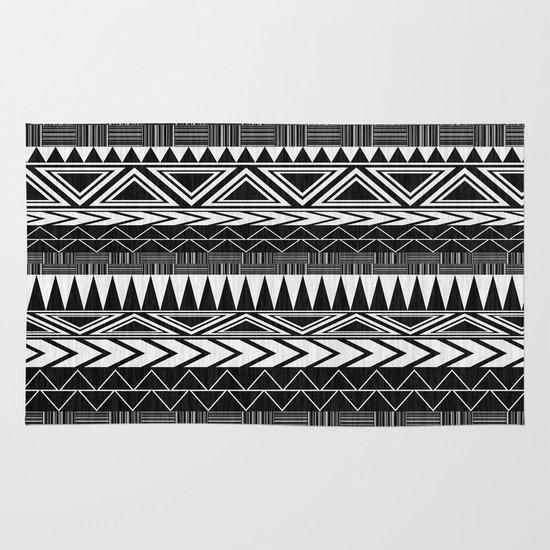 Tribal Monochrome. Area & Throw Rug