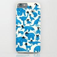 Blue Animals Black Hats iPhone 6 Slim Case