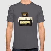 Stereo stack Mens Fitted Tee Asphalt SMALL