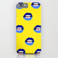 iPhone & iPod Case featuring Blue Lips by Bouffants and Broken Hearts