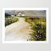 windswept coast Art Print