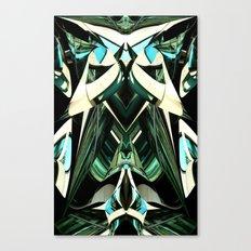 Green Warp Canvas Print