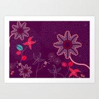 Jungle Delights Deep Vel… Art Print