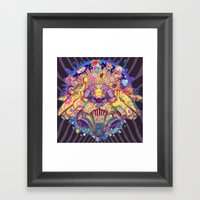 Infinite sun Framed Art Print