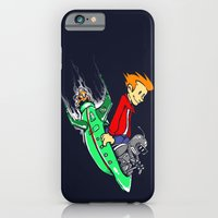 iPhone & iPod Case featuring Bender and Fry by Punksthetic