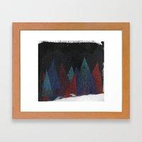 Triángulos Framed Art Print