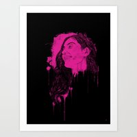 Black Pink Pop Art Print