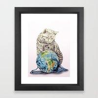 In Which Our Feline Deit… Framed Art Print