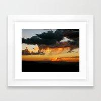 Black Canyon Sunset Framed Art Print