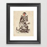 Strange Cat Framed Art Print