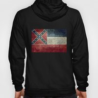 Mississippi State Flag, Distressed version Hoody