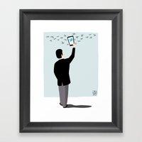 Serial Twitter Framed Art Print