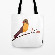 Yellow Breasted Bird Tote Bag