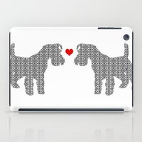 Schnauzer Dog Art , Flor… iPad Case