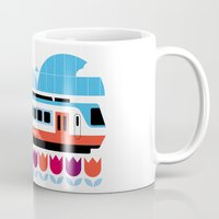 Postcards from Amsterdam / Train and Tulips Mug