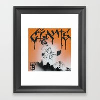 SF Giants Sergio Romo stencil painting print Framed Art Print