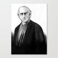 DARK COMEDIANS: Larry David Canvas Print
