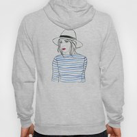 Stripes & Red Lips Hoody