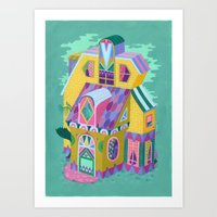 Yellow House Art Print